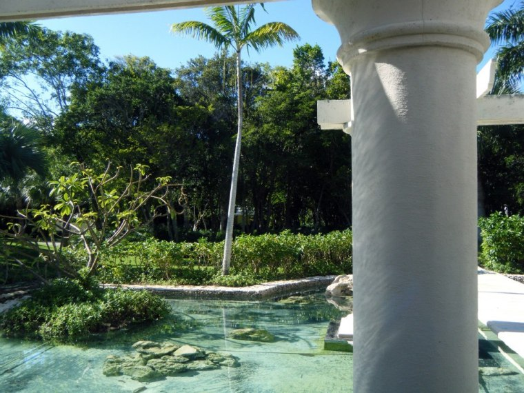 Outside the lobby of the Punta Cana Hotel