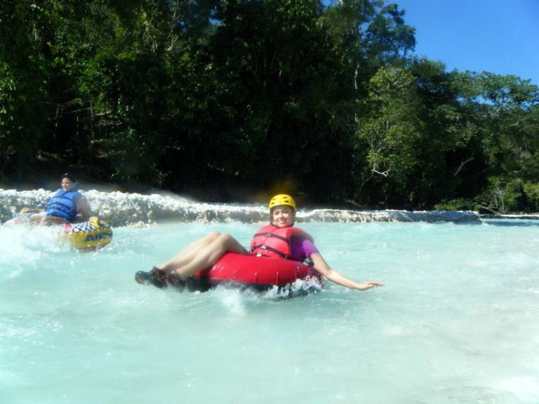 White water tubing, so fun!