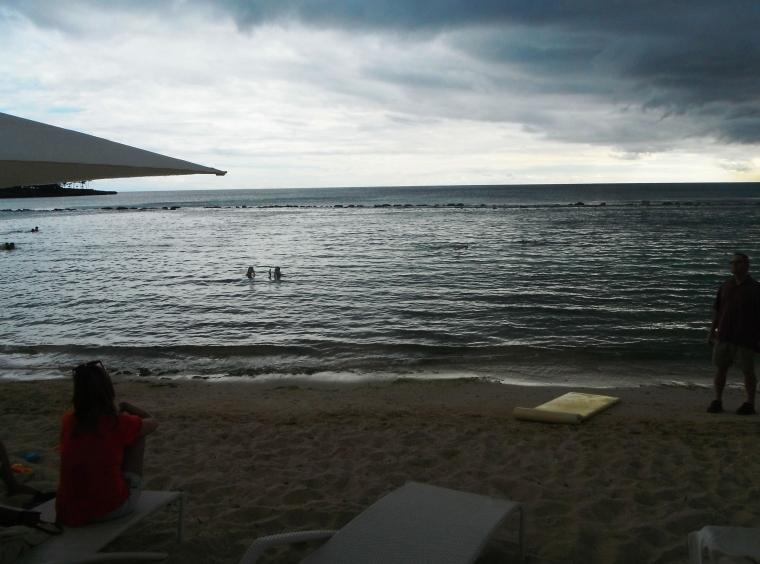 A calm beach for the kiddies to play at Casa de Campo
