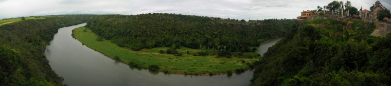 The river Chavon, from Altos de Chavon