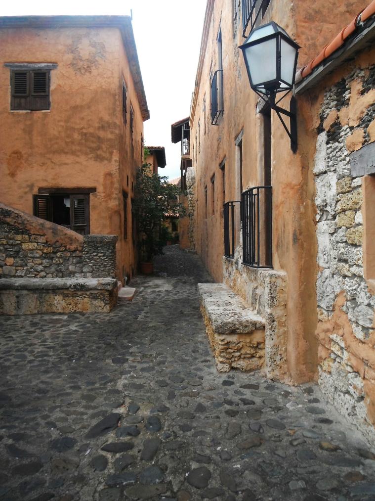 A cobblestones street