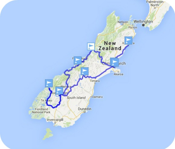 Week Itinerary Nz South Island