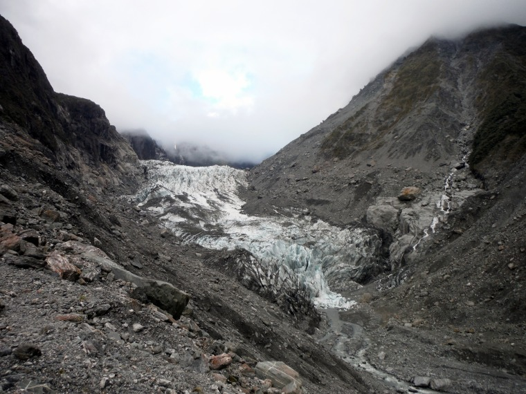 The Fox Glacier, up close and perosnal