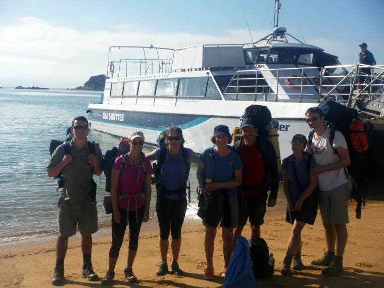 The group about to board the ferry