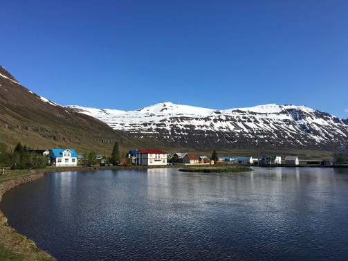 Seydisfjördur town in the morning