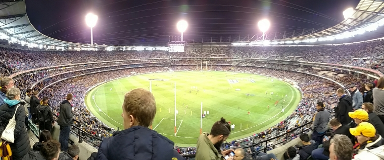 View from our seats at the MCG during the footy semi-finals.